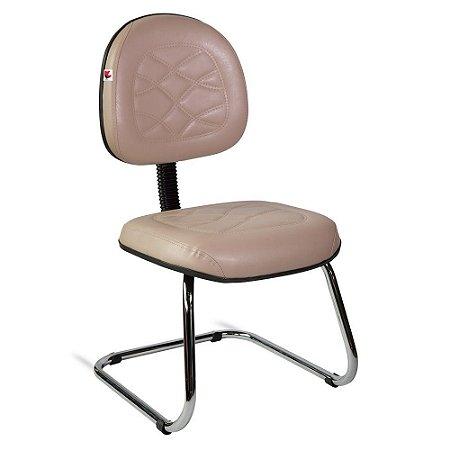 Cadeira Executiva Pé Contínuo Couríssimo Bege Turmalina
