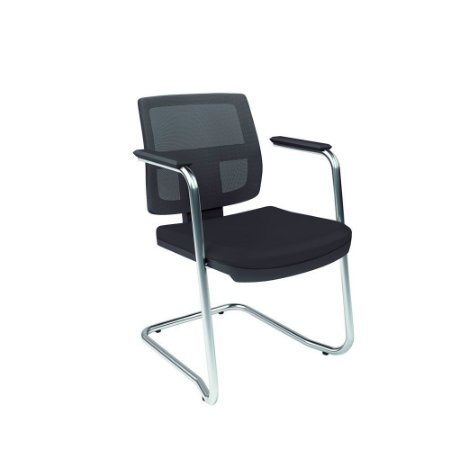 Cadeira Executiva Pé Contínuo Couríssimo Preto Saturno kit 2