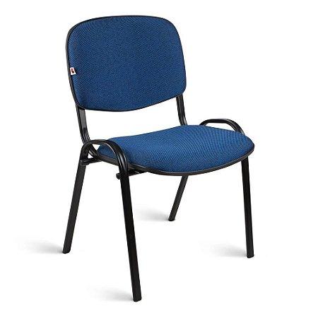 Cadeira Executiva Pé Palito Tecido Azul Com Preto Quartzo