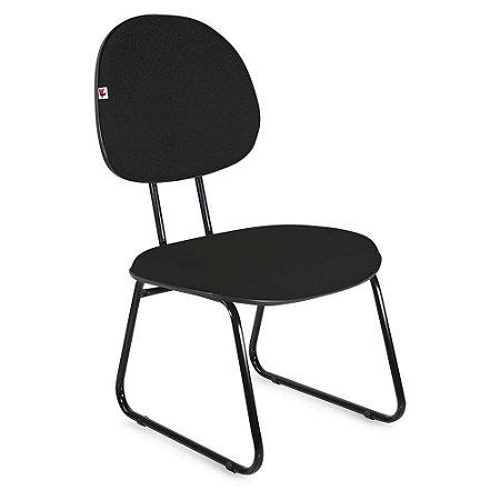 Cadeira Executiva Pé Sky Tecido Preto