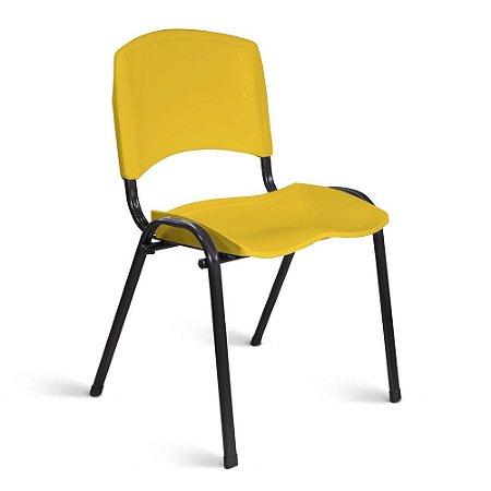 Cadeira Plástica Fixa A/E Amarelo Lara