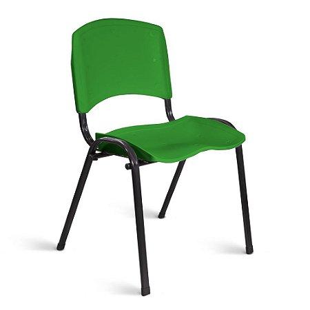 Cadeira Plástica Fixa A/E Verde Lara