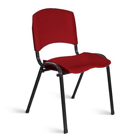 Cadeira Plástica Fixa A/E Vermelho Lara