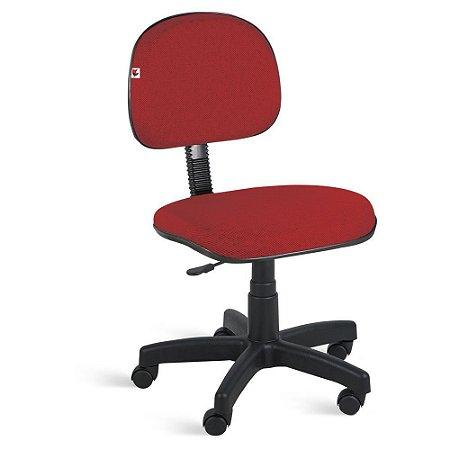 Cadeira Secretária Giratória Tecido Vermelho