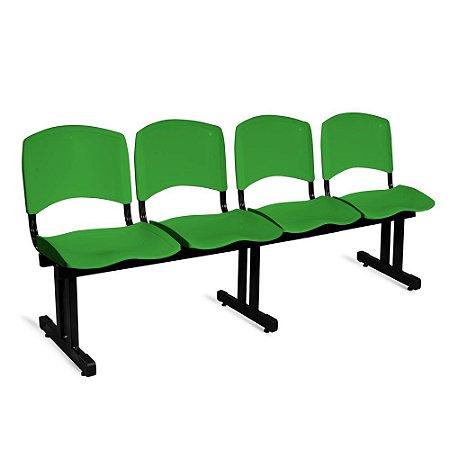 Longarina Plástica 4 Lugares A/E Verde Lara