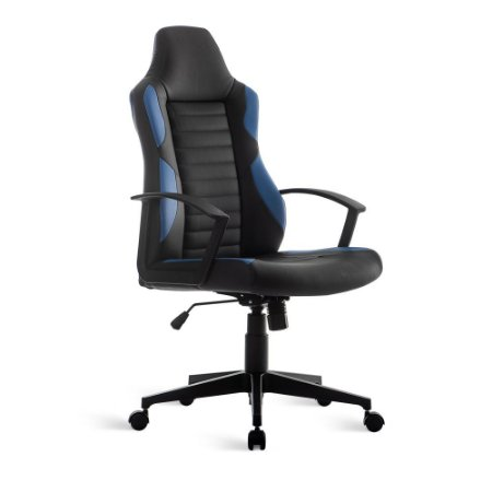 Cadeira Gamer Relax Braço Fixo Azul