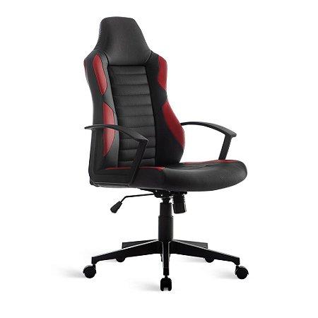 Cadeira Gamer Relax Braço Fixo Vermelha