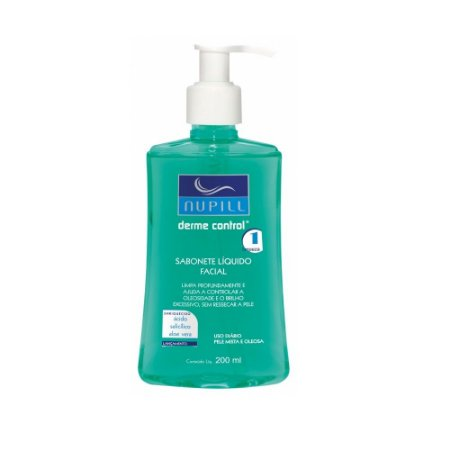 Sabonete Líquido Facial Derme Control Nupill 200ml