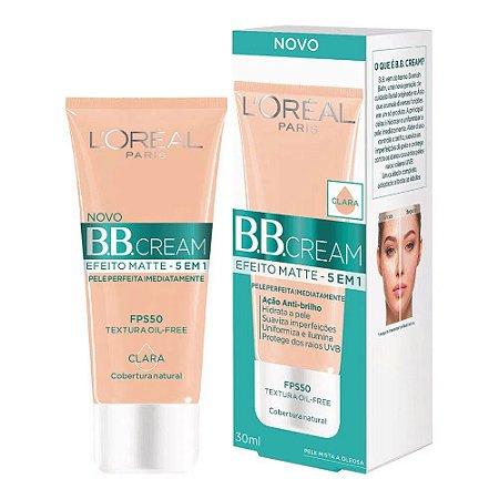 BB Cream Loreal Efeito Matte Fps50 -Clara