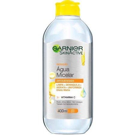 Água Micelar Garnier Antioleosidade SkinActive Vitamina C Oil Free 400ml