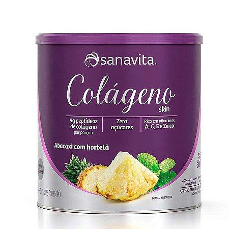 Colágeno Skin Sabor Abacaxi com o hortelã   200g - SINTA O PODER DA BELEZA EM SUA PELE!