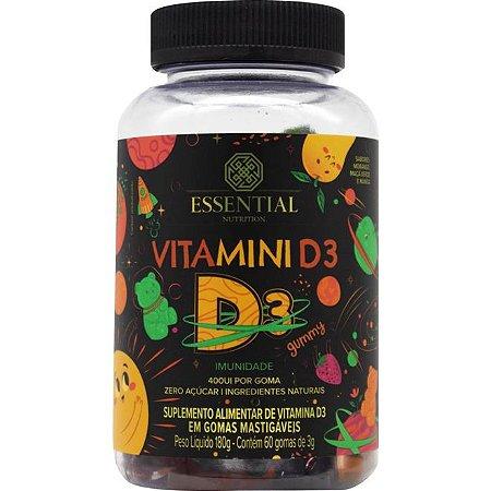 Gominhas de Vitamina D3 - 60 gomas vitaminadas, saborosas e divertidas