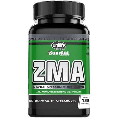 ZMA - Zinco, Magnésio e Vitamina B6   120 cápsulas - Unilife