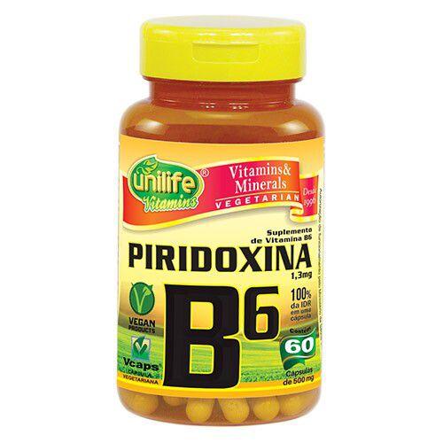 Vitamina B6 - Unilife | 60 cápsulas