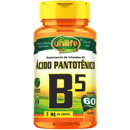 Vitamina B5 - Unilife   60 cápsulas