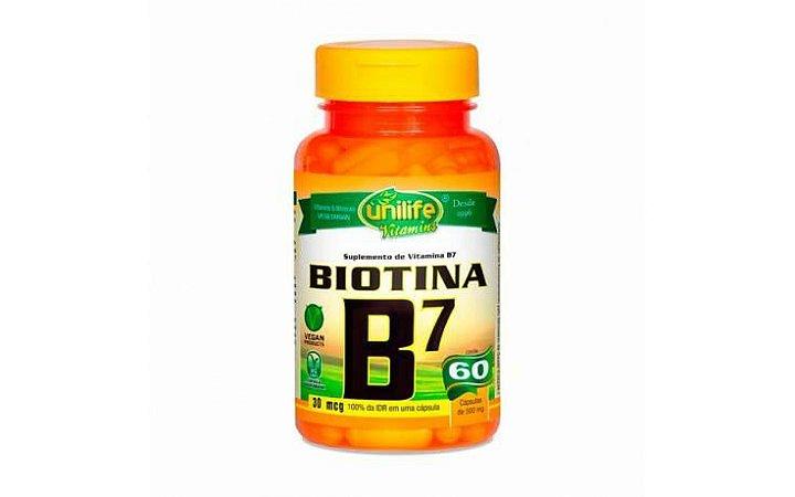 Vitamina B7 - Unilife - 60 cápsulas