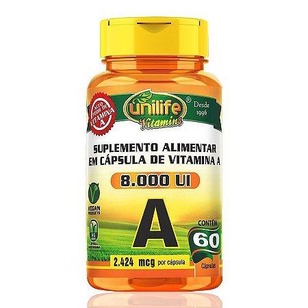 Vitamina A - Unilife   60 cápsulas
