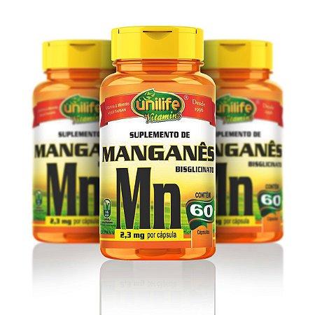 Manganês - Unilife   60 cápsulas