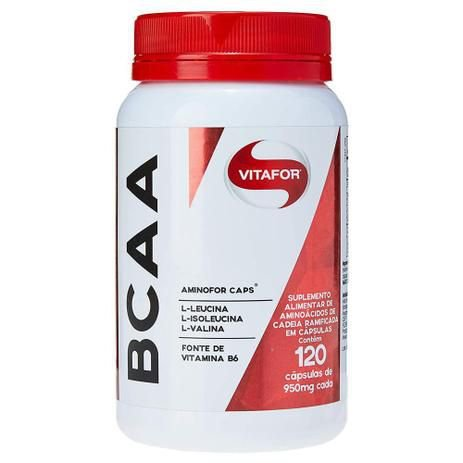 BCAA Aminofor - 120 cápsulas - Vitafor