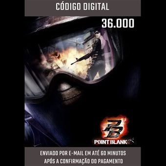 POINT BLANK - CARTÃO PB DE 36.000 CASH