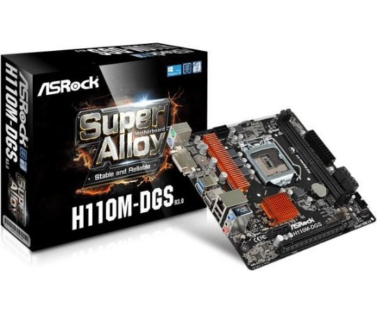 PLACA MAE ASROCK H110M-DGS DDR4 SOCKET LGA1151 CHIPSET INTEL H11