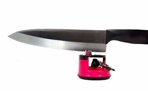 Afiador Amolador De Facas Tesoura Canivete Facão C/ Ventosa Tramontina