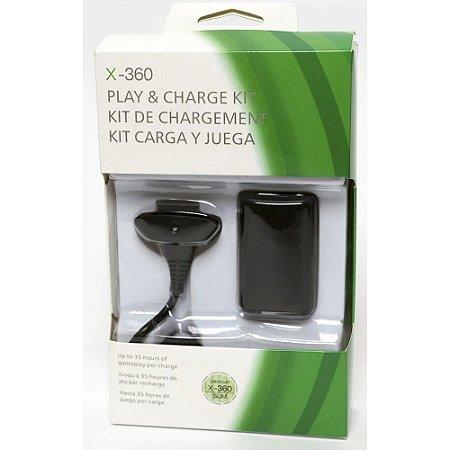 Bateria para Controle Xbox 360 com Cabo Carregador