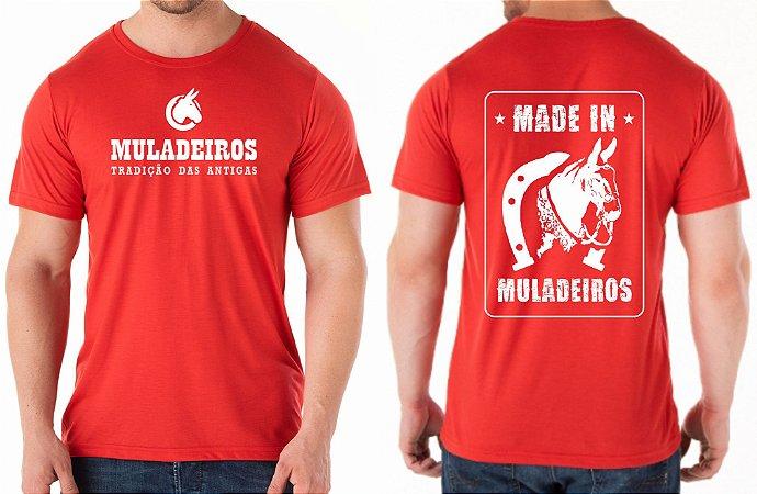 Camiseta Vermelha Made In Muladeiros