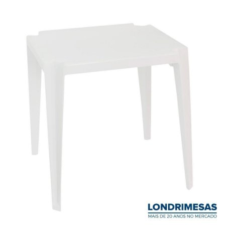 Mesa Plástica Quadrada Branca