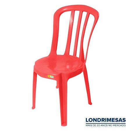 Cadeira Plástica Bistro Colorida 140 kg
