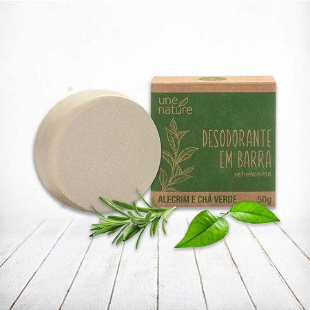 Desodorante em Barra Alecrim e Chá Verde Une Nature Arte dos Aromas 50g