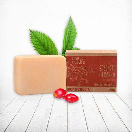 Sabonete Barra Facial Rosa Mosqueta Une Nature Arte dos Aromas  80g