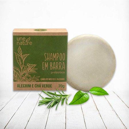 Shampoo em Barra Alecrim e Chá Verde Une Nature Arte dos Aromas 70g
