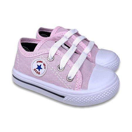 Tênis All Star Infantil Feminino Masculino Sapatinho de Bebê Starzinho Confortável Calce Fácil Promoção Cano Baixo