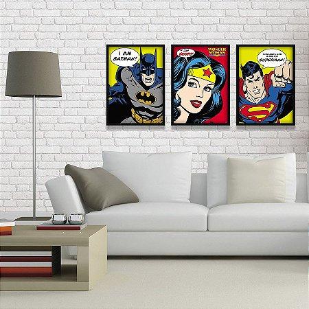 Coleção - Quadros Decorativos de Super Heróis