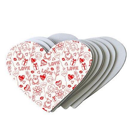Mouse Pad Coração Personalizado