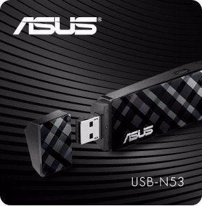 Adaptador Wireless N600 Asus Usb-n53 Dual Band N300x2