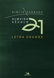 Bíblia Almeida Século 21 letra grande brochura - Verde c/ capa cristal