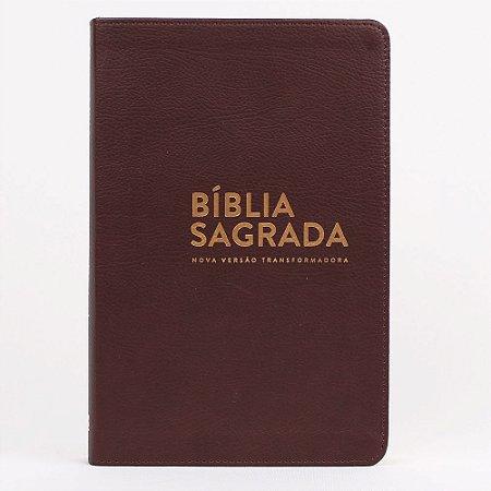 BÍBLIA NVT LUXO LN - MARROM