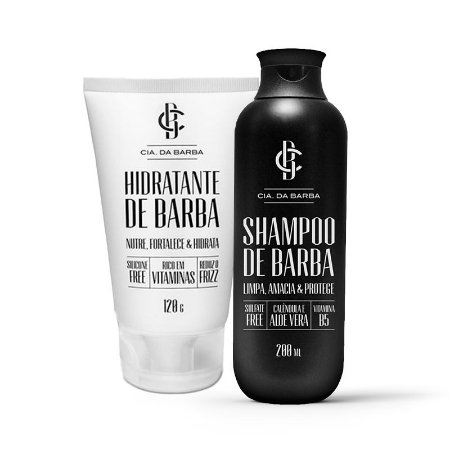Dupla Cia da barba Shampoo e Hidratante para barba