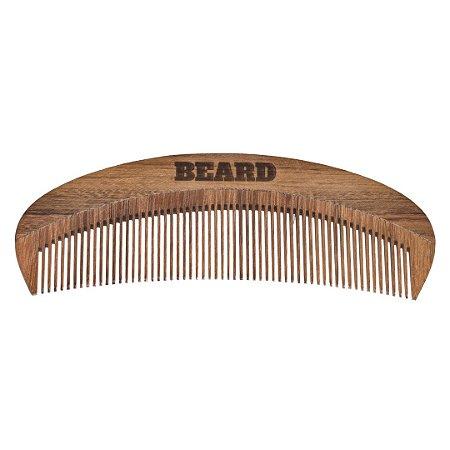 Pente de Madeira Beard Curvo