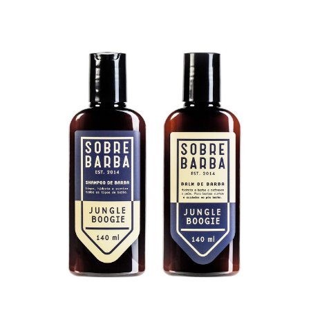 Dupla Jungle Boogie Shampoo e Balm para Barba Sobrebarba