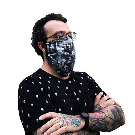 Máscara Para Barbudos De Tecido Camuflada