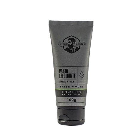 Pasta de Limpeza Esfoliante para Barba e Rosto Barba Brava Fresh Woods