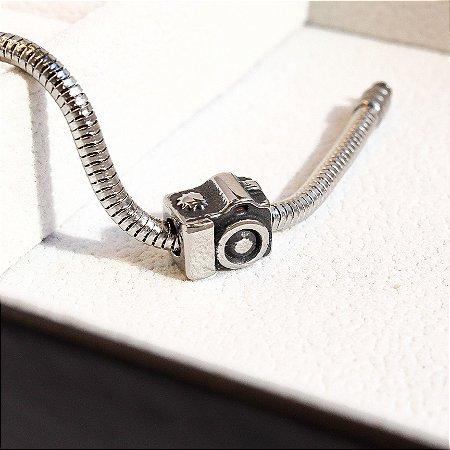 Berloque Câmera Fotográfica Aço