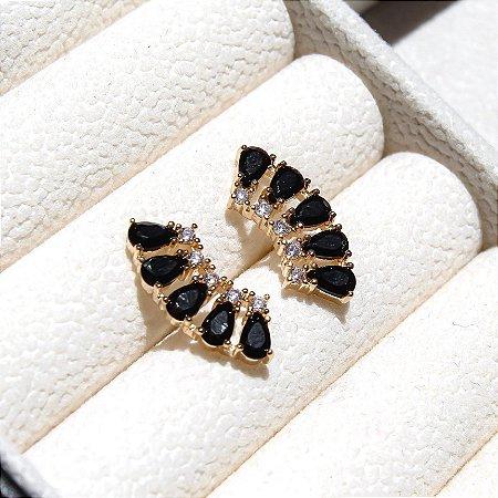 Ear Cuff Mini Gotas Banho Ouro