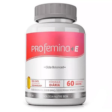 Profemina +E 60 cáps - Atenua Sintomas Pré-Menstrual