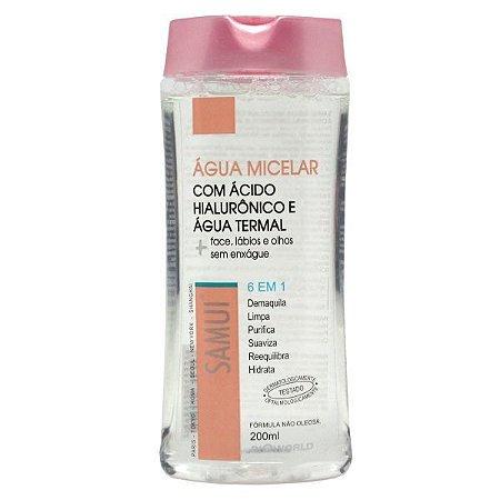Água Micelar Samui 200ml - 6 em 1 demaquila e trata a pele