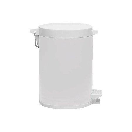LIXEIRA C/PEDAL RECIP PLAST. BRANCA 4,5L
