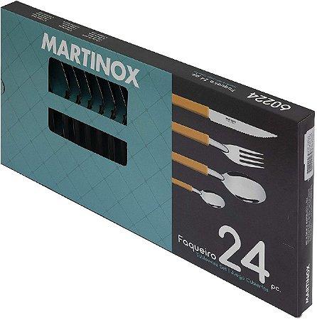 FAQUEIRO 24PCS MARTINOX PRETO